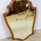 Antiikne tammepuust raamiga peegel