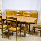 Antiikne köögimööbel söögilaud kapp kuus tooli